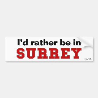 Estaría bastante en Surrey Pegatina Para Coche