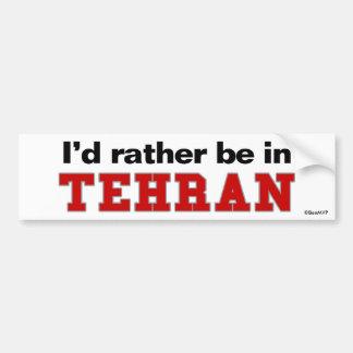 Estaría bastante en Teherán Pegatina Para Coche