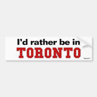 Estaría bastante en Toronto Pegatina Para Coche