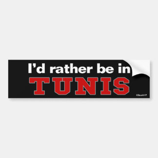 Estaría bastante en Túnez Pegatina Para Coche