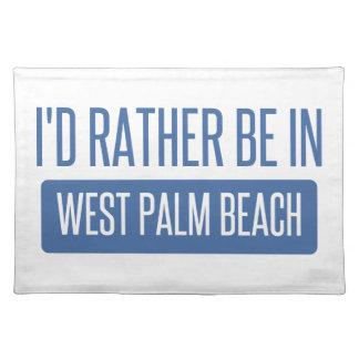 Estaría bastante en West Palm Beach Salvamanteles