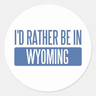 Estaría bastante en Wyoming Etiquetas Redondas