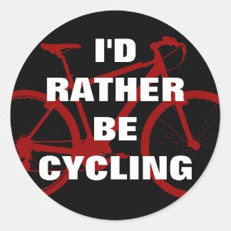 Estaría completando un ciclo bastante pegatina redonda