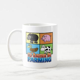 ¡Estaría cultivando bastante! (granjero virtual) Taza De Café