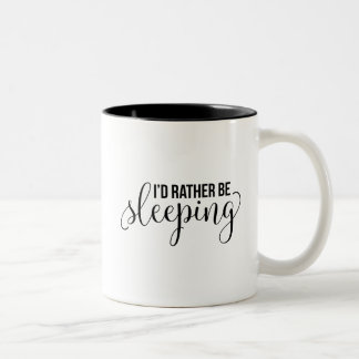 Estaría durmiendo bastante taza bicolor