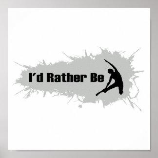 Estaría haciendo bastante yoga póster
