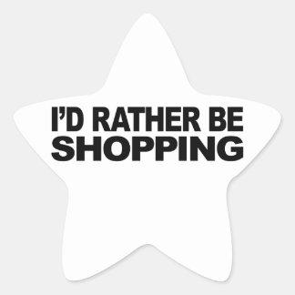 Estaría haciendo compras bastante pegatina en forma de estrella