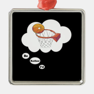 Estaría jugando bastante a baloncesto ornamentos de navidad