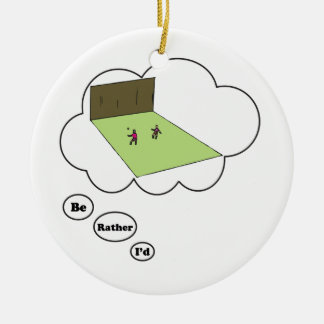 Estaría jugando bastante a balonmano ornaments para arbol de navidad