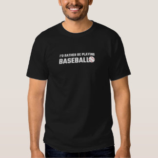 Estaría jugando bastante a béisbol camisas