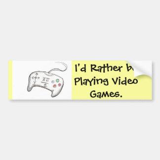 ¡Estaría jugando bastante a los videojuegos! Pegatina Para Coche