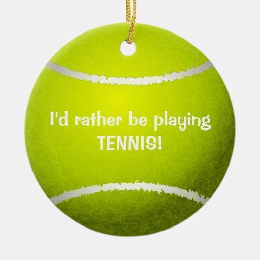 ¡Estaría jugando bastante a tenis! Ornamento de la Ornamentos Para Reyes Magos