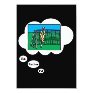 Estaría jugando bastante al fútbol 8 invitación 12,7 x 17,8 cm