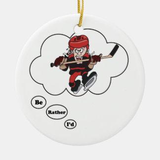 Estaría jugando bastante al hockey 6 adornos de navidad