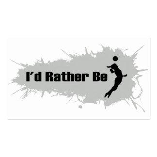 Estaría jugando bastante al voleibol (femenino) tarjetas de visita