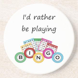 Estaría jugando bastante bingo posavasos manualidades