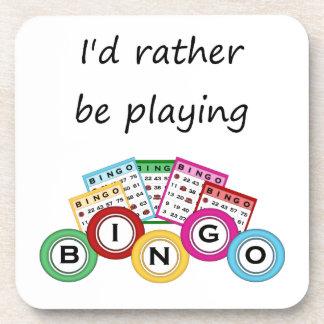 Estaría jugando bastante bingo posavasos de bebida