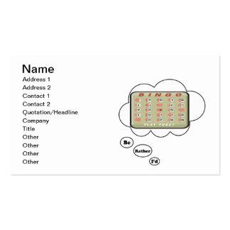 Estaría jugando bastante bingo tarjetas de visita