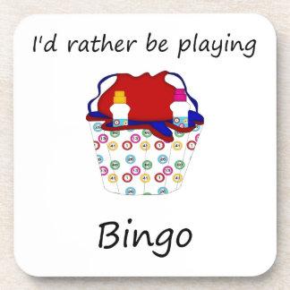 Estaría jugando bastante el bingo (el bolso) posavaso