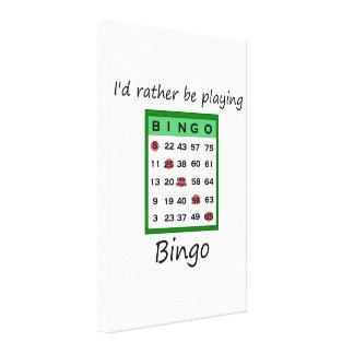 Estaría jugando bastante el bingo (la tarjeta) impresión en lona