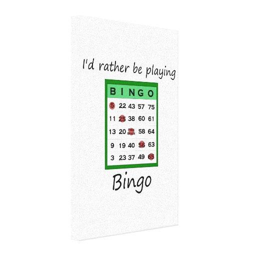 Estaría jugando bastante el bingo (la tarjeta) lona envuelta para galerías