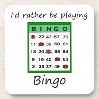 Estaría jugando bastante el bingo (la tarjeta) posavaso