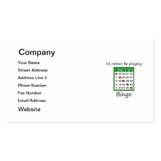Estaría jugando bastante el bingo (la tarjeta) tarjetas de visita
