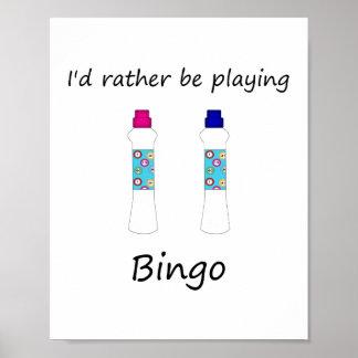 Estaría jugando bastante el bingo (los embadurnado póster