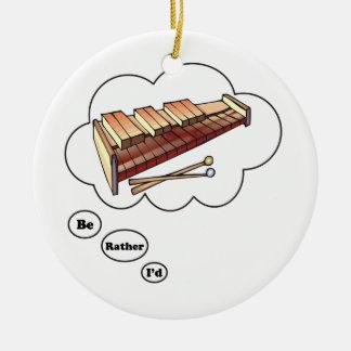 estaría jugando bastante el Marimba 2 Adorno Redondo De Cerámica