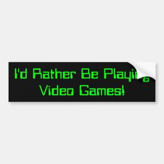 Estaría jugando bastante el parachoque Sticker2 de Pegatina Para Coche