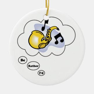 estaría jugando bastante el saxofón 2 ornamento para arbol de navidad