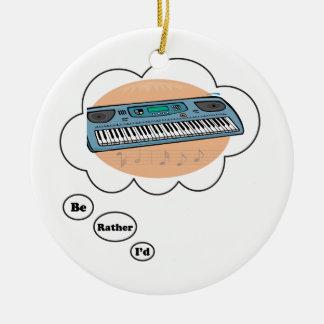 estaría jugando bastante el sintetizador adorno redondo de cerámica
