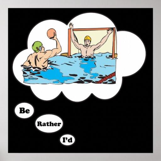 Estaría jugando bastante el water polo 2 poster