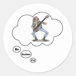 estaría jugando bastante la música rock 3 pegatina redonda