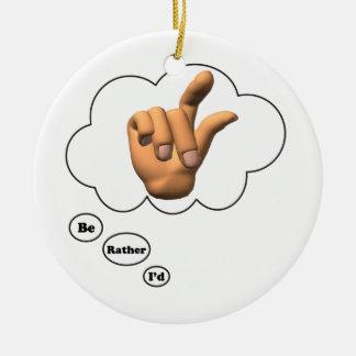 estaría jugando bastante los dedos de rotura ornamento de navidad