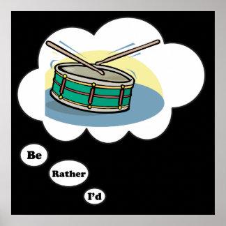 estaría jugando bastante los tambores 2 posters