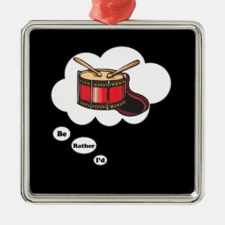 estaría jugando bastante los tambores 4 ornamentos de navidad