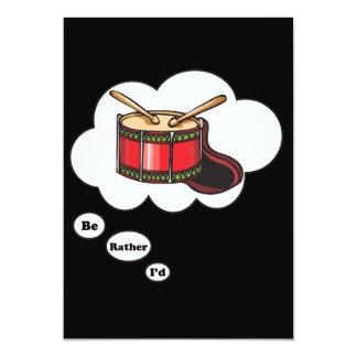 estaría jugando bastante los tambores 4 invitación 12,7 x 17,8 cm