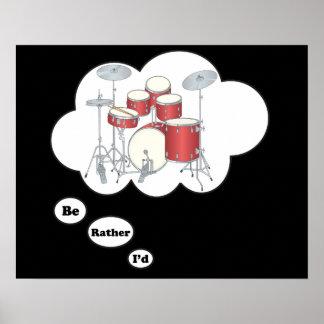 estaría jugando bastante los tambores 6 posters
