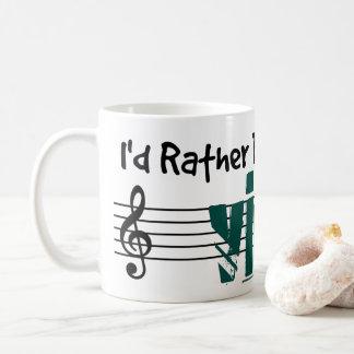 Estaría jugando bastante mi viola taza de café