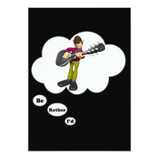 estaría jugando bastante música rock invitación 12,7 x 17,8 cm