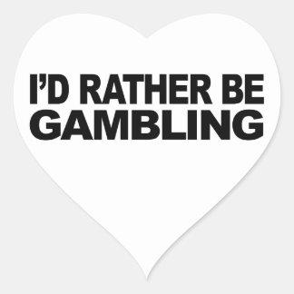 Estaría jugando bastante pegatina en forma de corazón