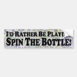 Estaría jugando bastante vuelta la botella - pegat pegatina para coche