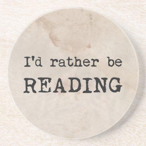 Estaría leyendo bastante posavasos manualidades