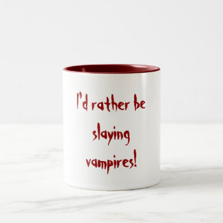 ¡Estaría matando bastante a vampiros! Taza