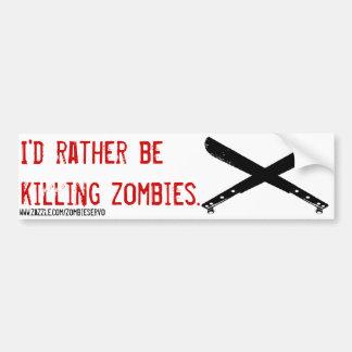estaría matando bastante al zombi pegatina para coche