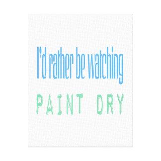 Estaría mirando bastante la pintura seca lienzo envuelto para galerias