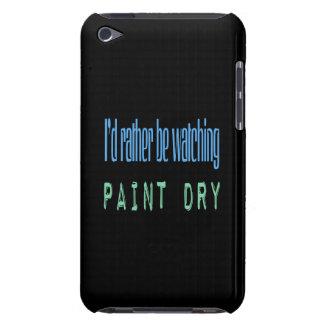 Estaría mirando bastante la pintura seca - negro iPod Case-Mate funda
