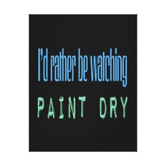 Estaría mirando bastante la pintura seca - negro lona envuelta para galerías