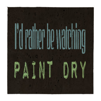 Estaría mirando bastante la pintura seca - negro posavasos